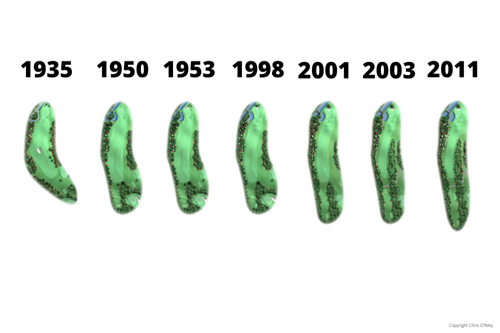 The Evolution of Pink Dogwood, Hole 2 at the home to The Masters, Augusta National Golf Club.