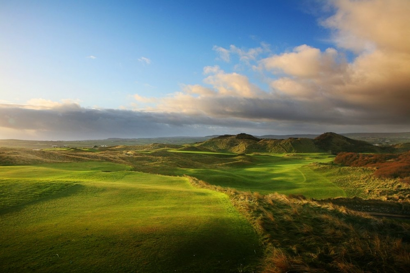 The opening hole at Portstewart Golf Club.