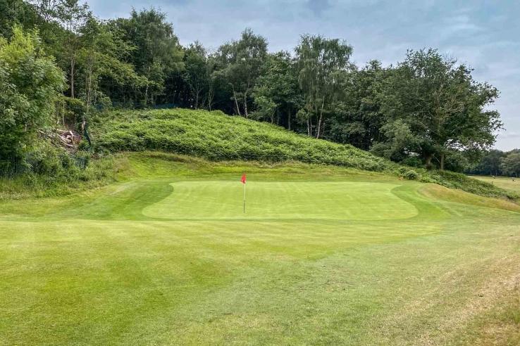 Tiered Green Alister MacKenzie Reddish Vale Golf Club