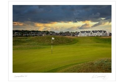 A photograph of the 1st hole at Carnoustie as shot by Kevin Murray.