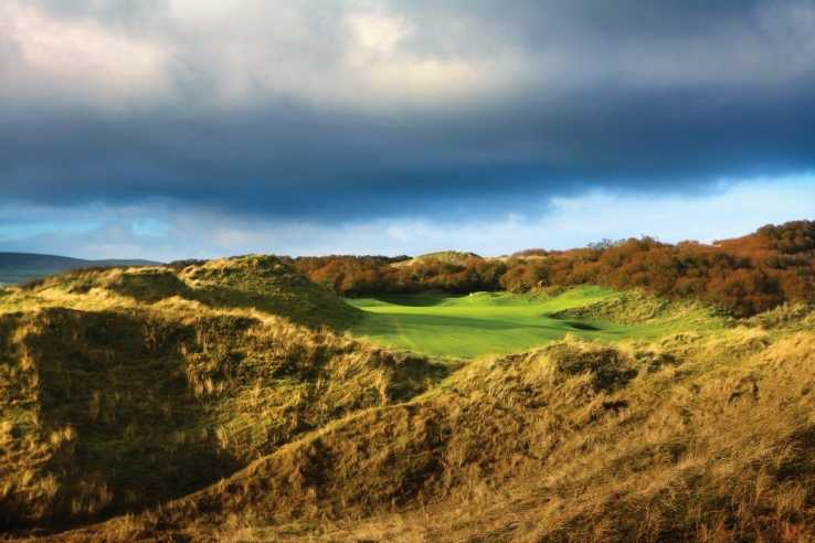 The 4th hole in the dunes at Portstewart Golf Club.