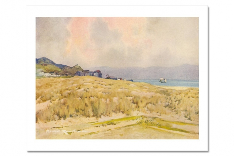 The famous Harry Rountree Watercolour of Aberdovey Golf Club.