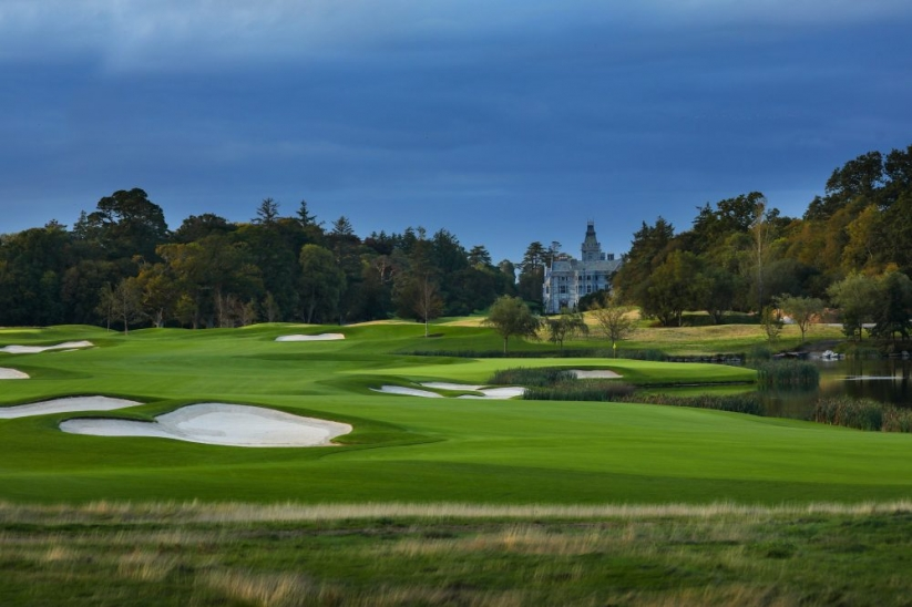 The fairway of the 7th hole at Adare Manor.