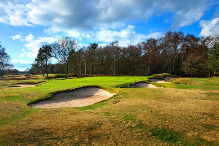 An Alister MacKenzie green site at Alwoodley Golf Club.