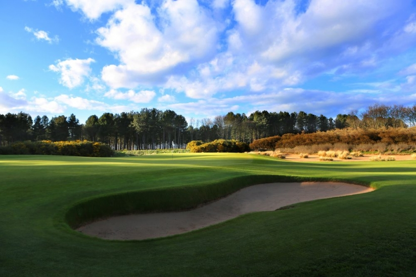 A photo of the exclusive golf course known as Archerfield Links.