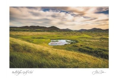 A photograph of the 7th hole at Ballyliffin Golf Club Old Links.