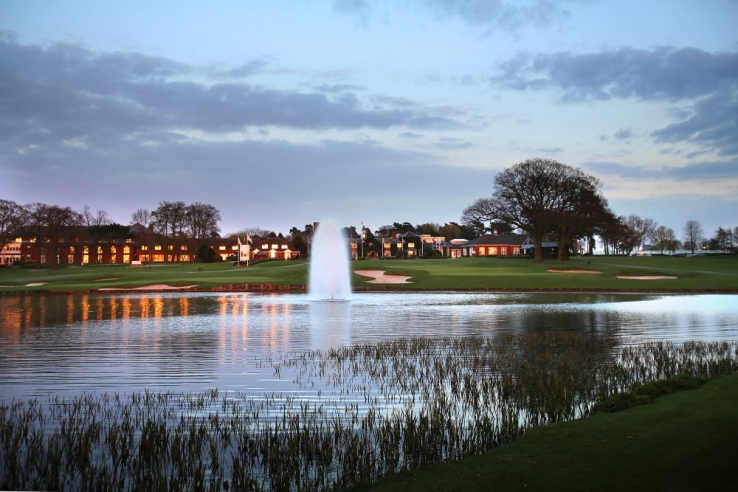 The clubhouse and water features at The Belfry.