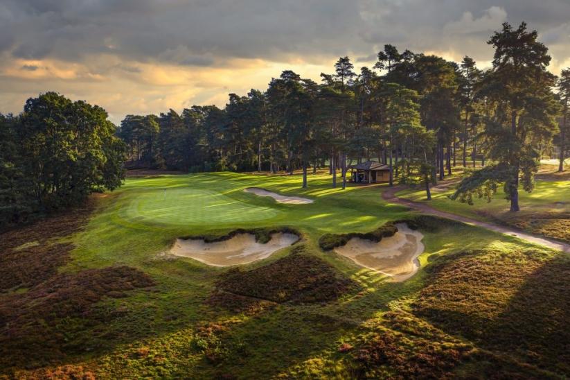 The 13th green at The Berkshire Golf Club Blue.