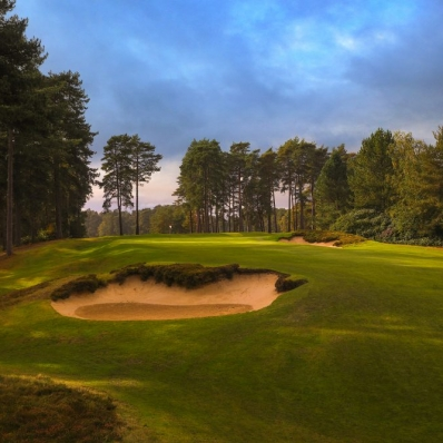 The 4th green at The Berkshire Golf Club Red.