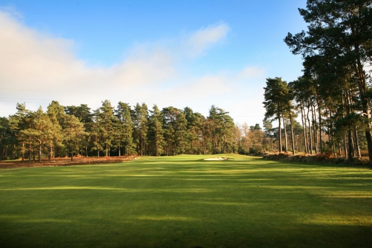 The 16th hole at Blackmoor Golf Club.
