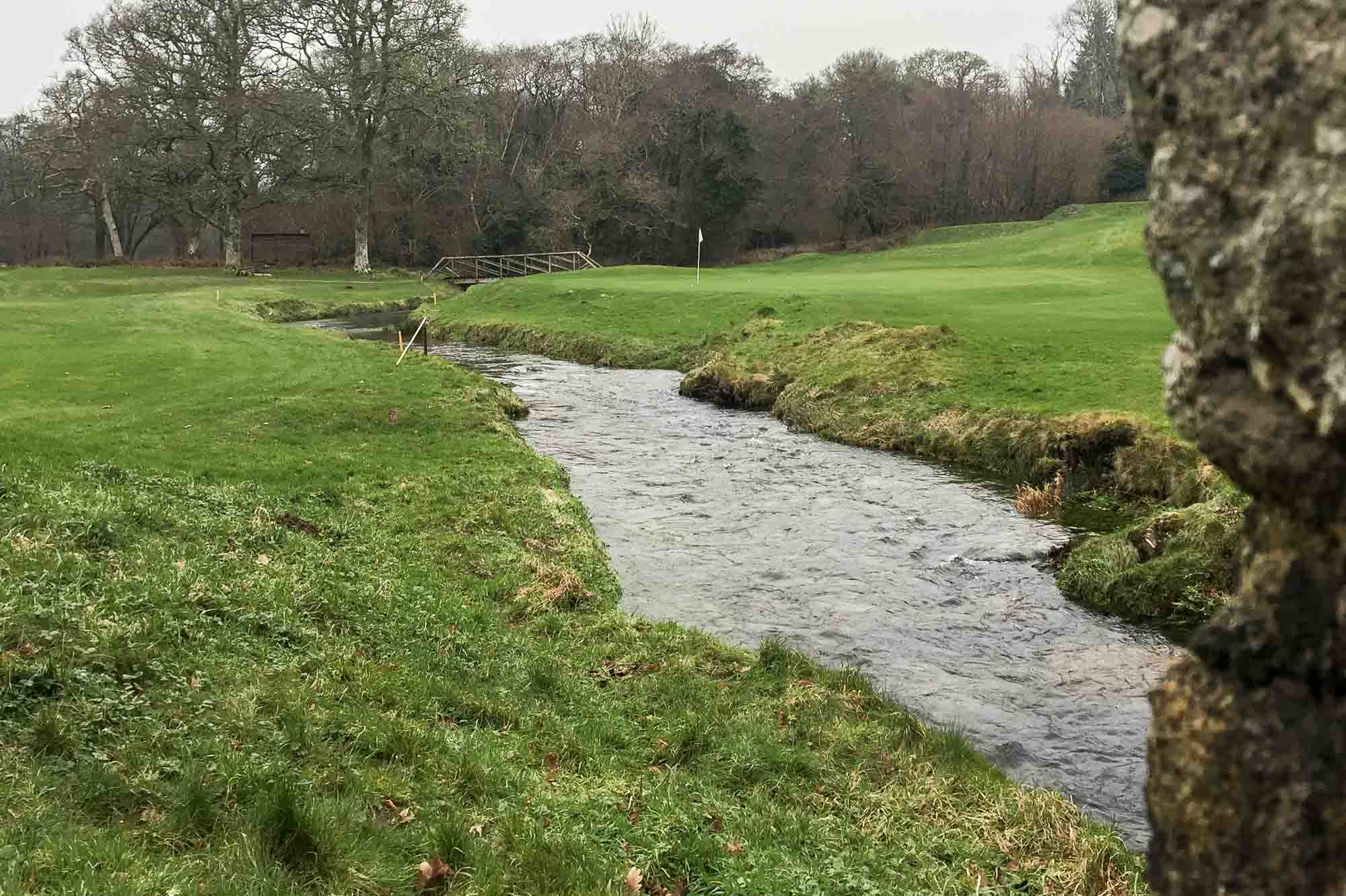 The stream at Bovey Castle Golf Course.