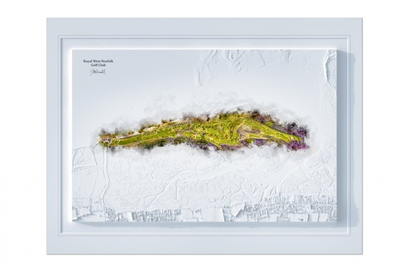 The 3DWatermap of Royal West Norfolk GC by Joe Mcdonnell.