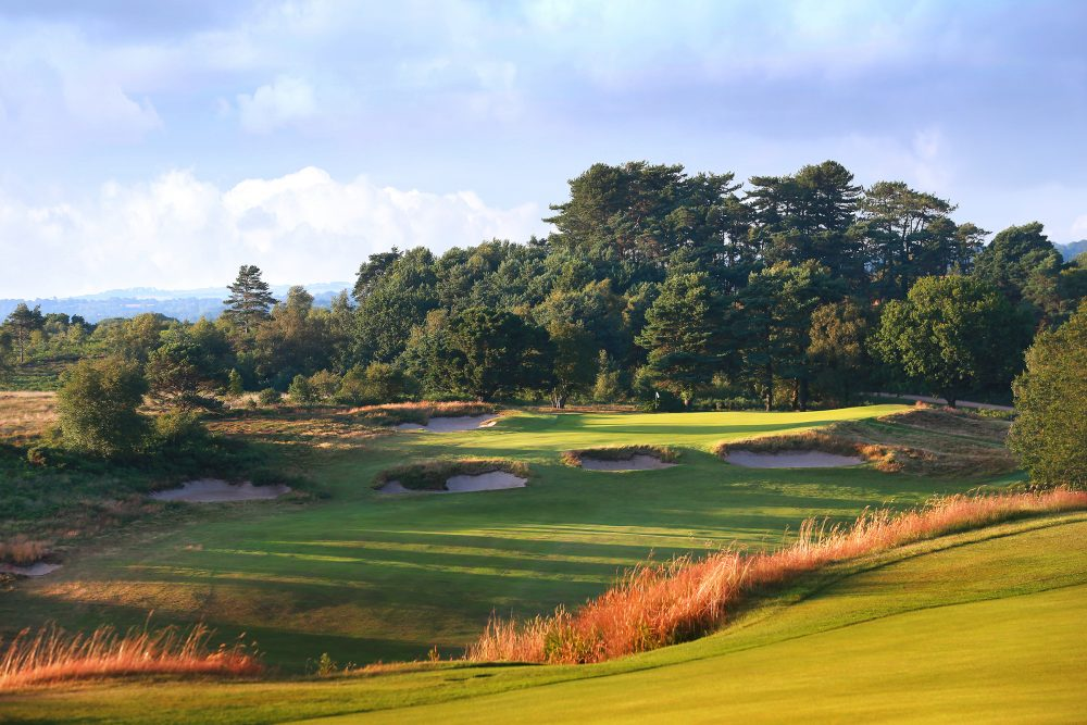 The 14th hole at Broadstone Golf Club.