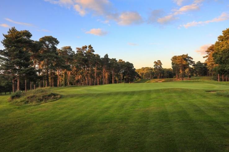 The 14th hole at Camberley Heath Golf Club.