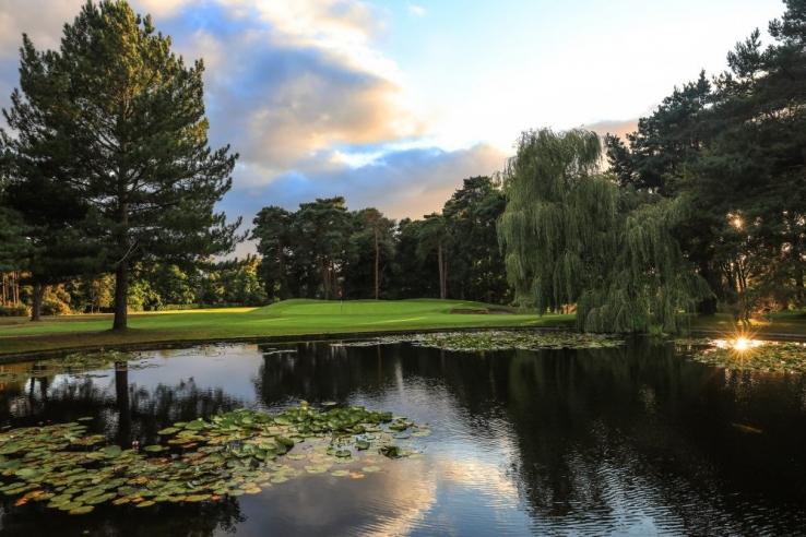 The 16th hole at Camberley Heath Golf Club.