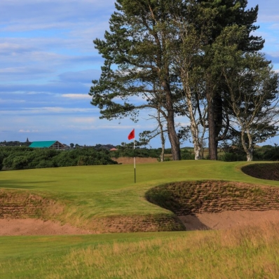 The 13th at Carnoustie Golf Links.