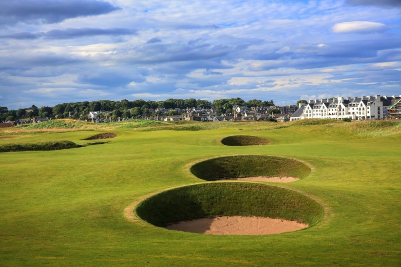 The formidable bunkers are Carnoustie Golf Links.