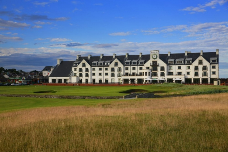 The clubhouse at Carnoustie Golf Links.