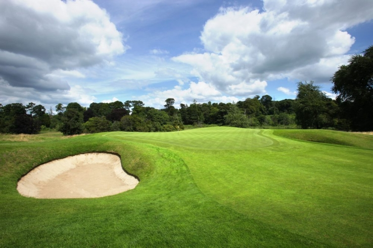 A bunker and green at Carton House.