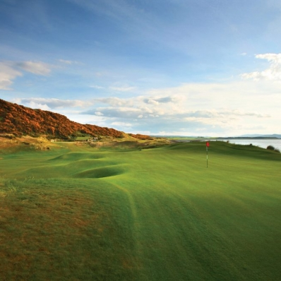 The 11th hole at Castle Stuart Golf Links.