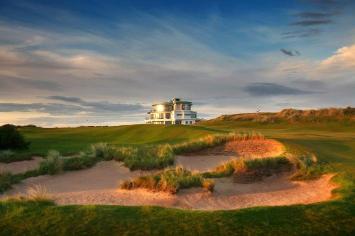 The 9th hole at Castle Stuart Golf Links.