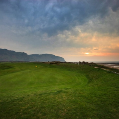 The seaside links of Conwy Golf Club in Wales.
