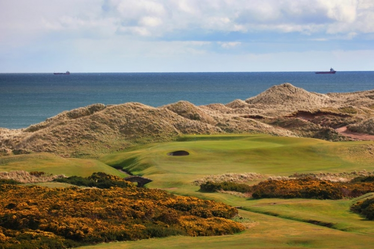 The world famous 6th hole at Cruden Bay Golf Club.