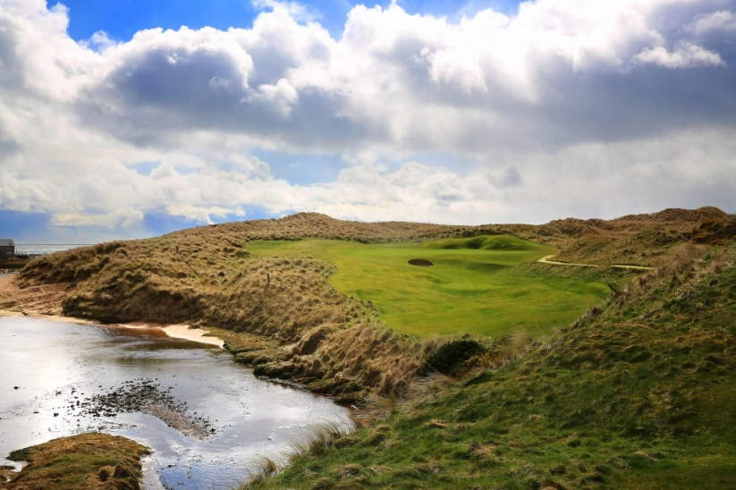 The 4th hole at Cruden Bay Golf Club.