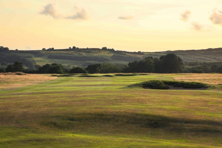 The 7th green at Delamere Forest Golf Club.