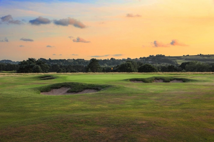 Sunset at Delamere Forest Golf Club.
