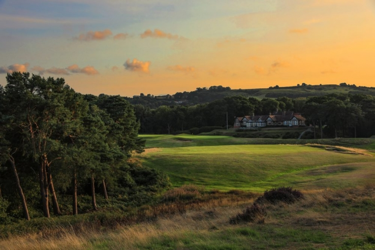 The 9th hole at Delamere Forest Golf Club.