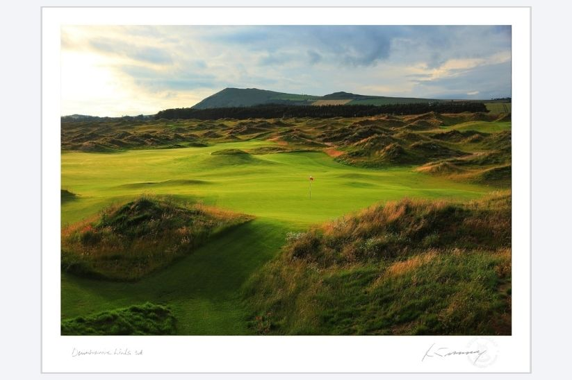 A photo by Kevin Murray of Dumbarnie Links.