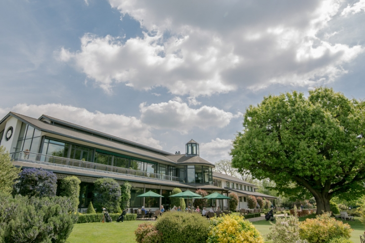 The clubhouse at Royal Mid-Surrey Golf Club.