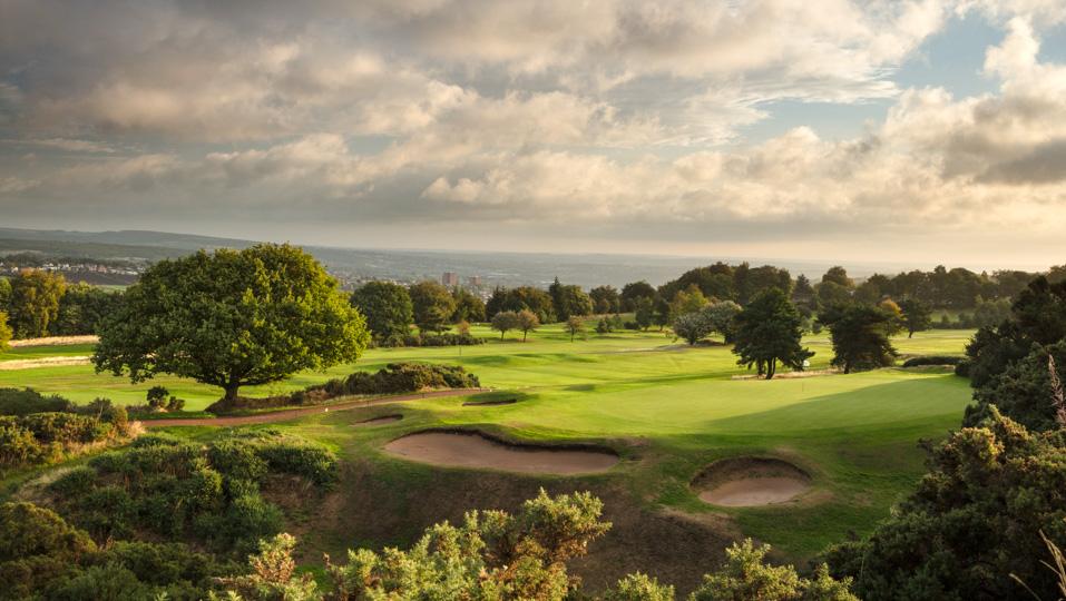 The 17th hole at Hallamshire Golf Club.