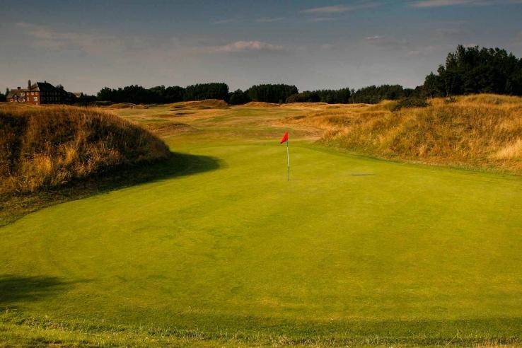 The 18th green at Hesketh Golf Club.