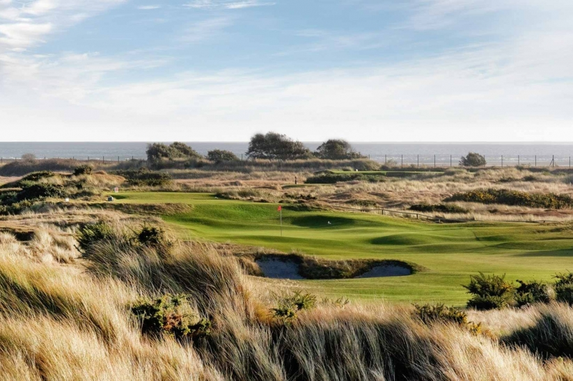 The stunning 10th hole at Hayling Golf Club.