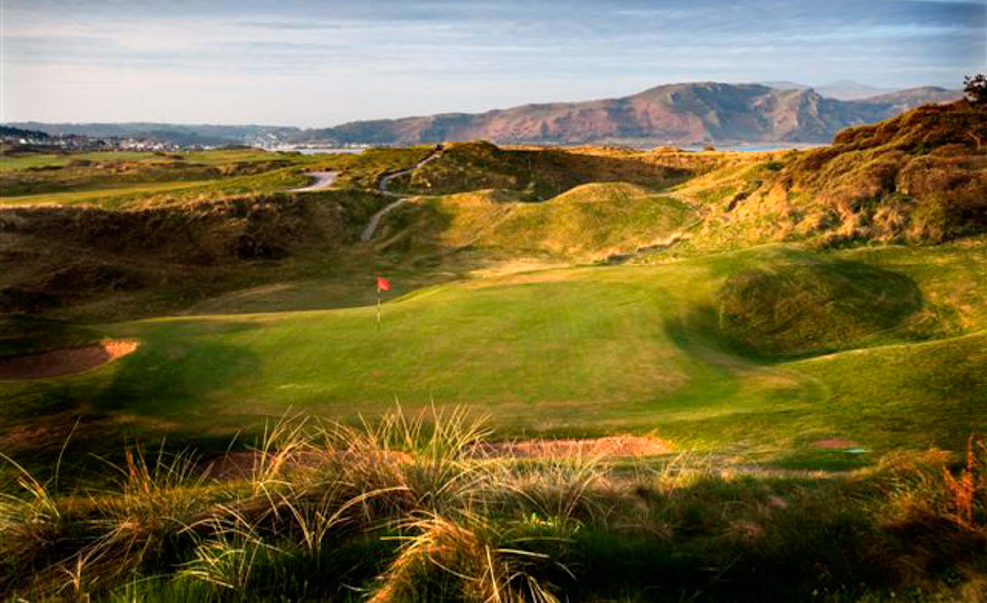 The 17th hole at North Wales Golf Club.