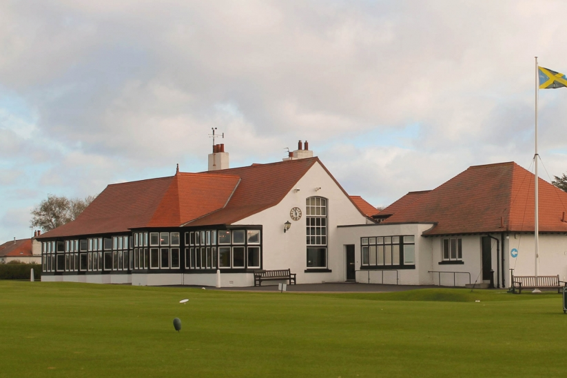 The clubhouse at Luffness New Golf Club.