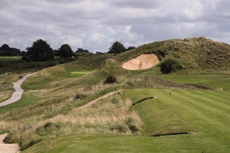 The Himalaya dune at St Enodoc Golf Club.