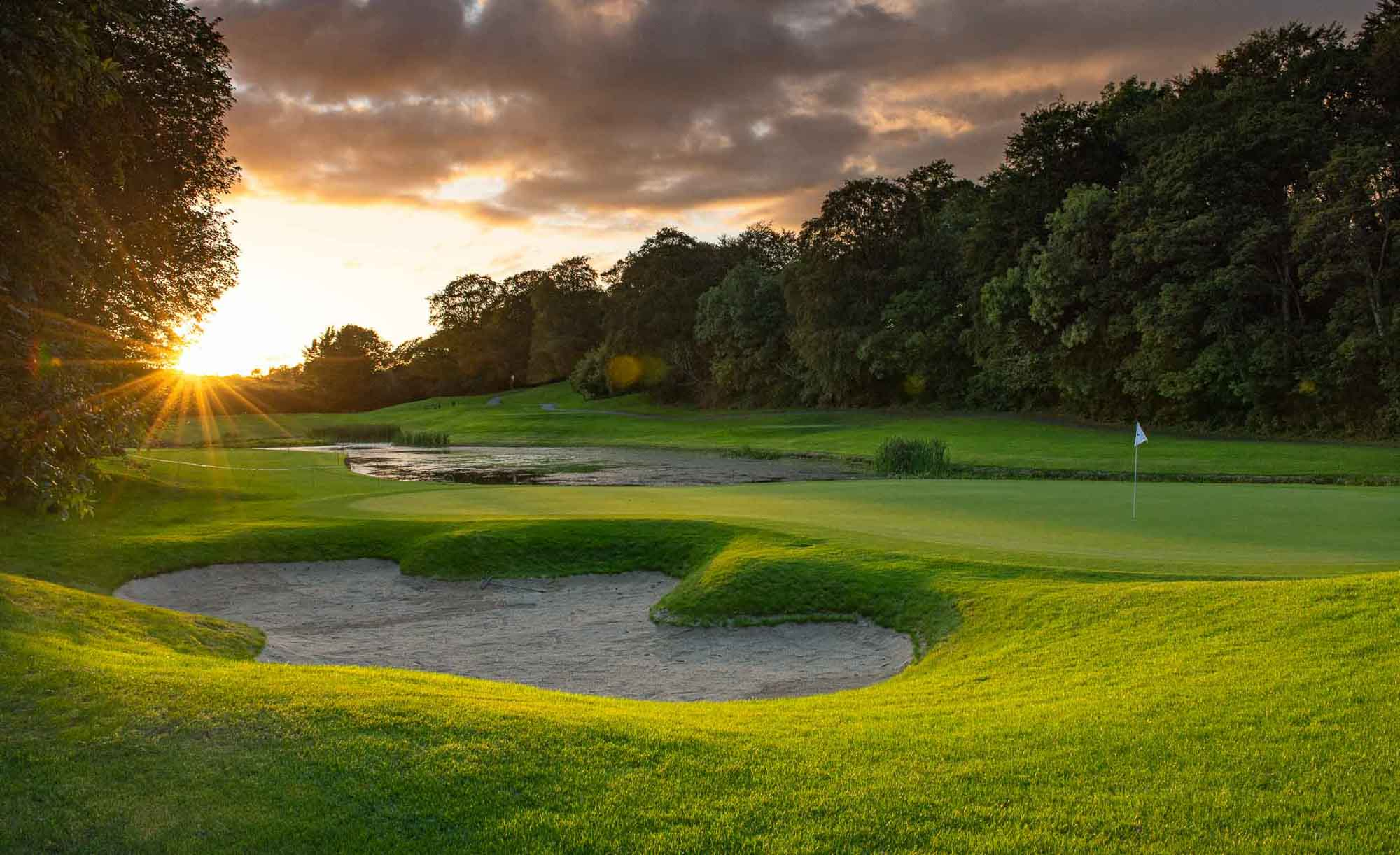 A photo of the bunkering at Mount Juliet Estate.