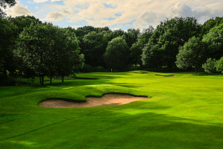 A photo of a bunker at Kedleston Park Golf Club.