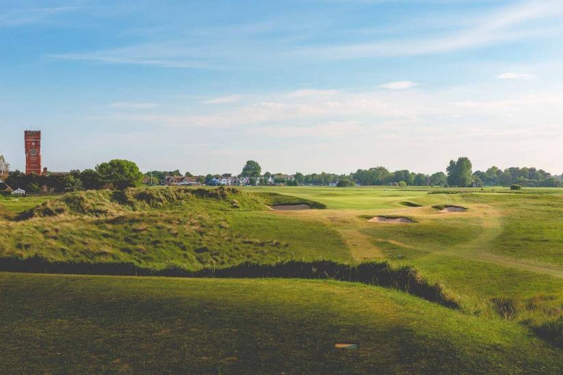 The championship links at Littlestone Golf Club.