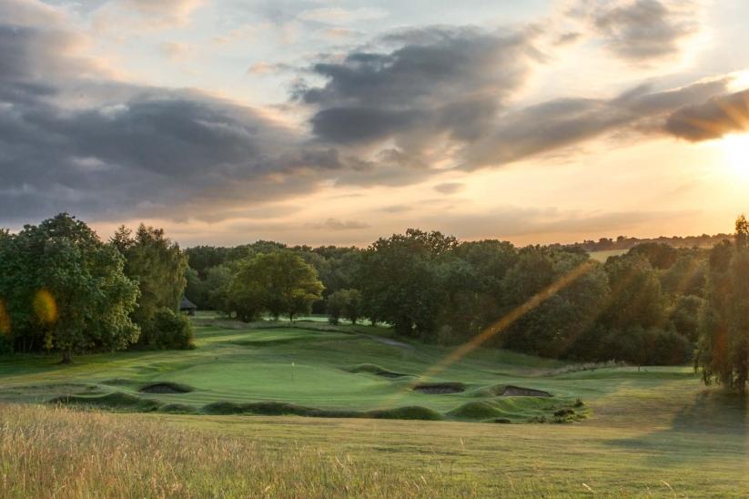 The raised heathland features of Luffenham Heath Golf Club.
