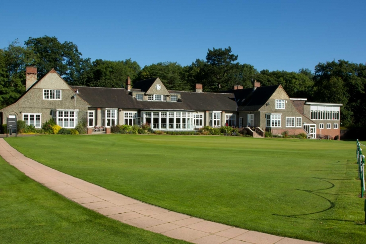The clubhouse at Northumberland Golf Club.