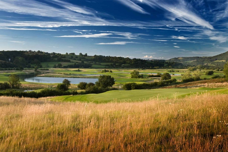 The courses rises up the hillside at Celtic Manor Golf Club Twenty Ten Course.