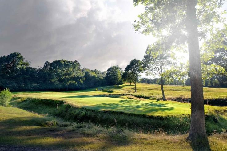 Not a bunker to be seen at Royal Ashdown Golf Club.