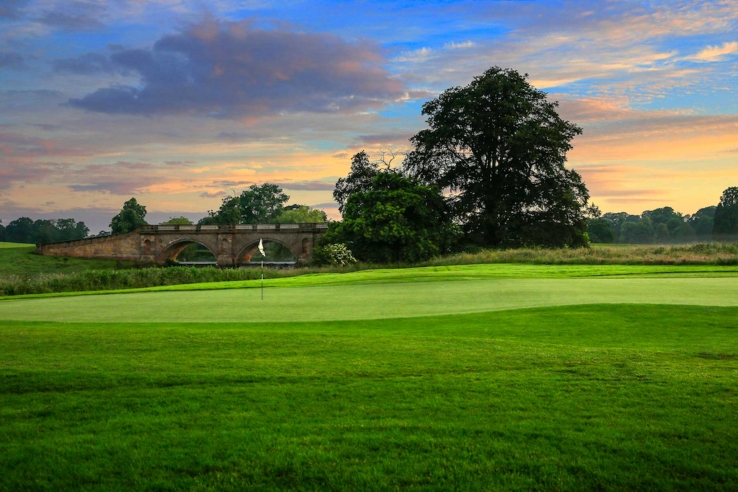 The Adams Bridge as seen from the Kedleston Park Golf Club.