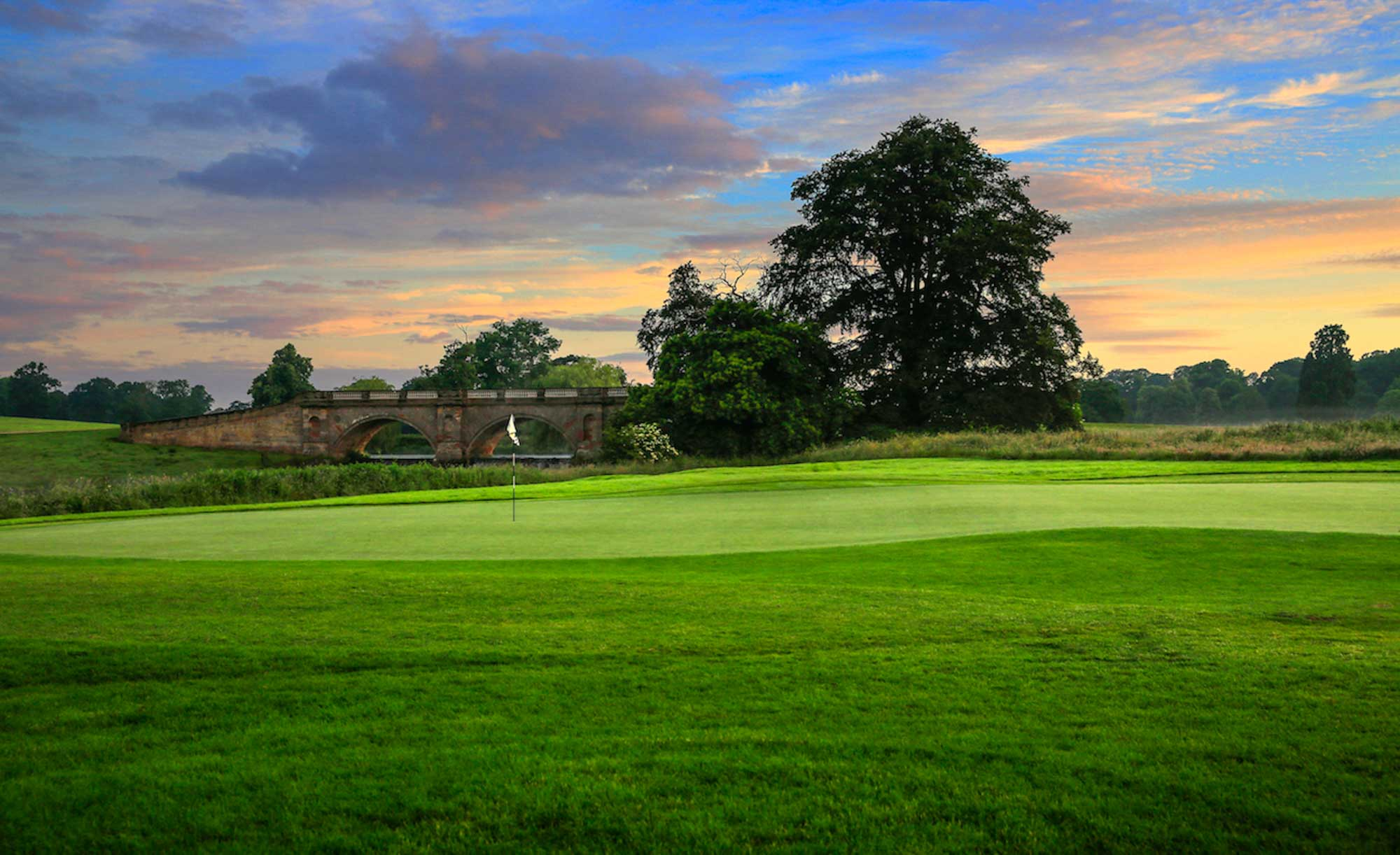 The Adams Bridge as seen from the Kedleston Park Golf Club.