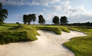 The MacKenzie bunkers at Moortown Golf Club.