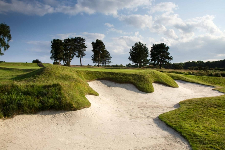 The MacKenzie bunkers at Moortown Golf Club.